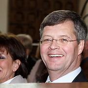 NLD/Naarden/20160325 - Mattheus Passion 2016 Naarden, Jan Peter Balkenende en partner Bianca Hoogendijk