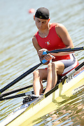 Brive, FRANCE,   USA  JM1X, Matthew MADDAMMA, relax's before the start in his heat of the junior men's single sculls at the  2009 FISA Junior World Rowing Championships,  Brive La GAILLARDE. Wednesday 05/08/2009 [Mandatory Credit. Peter Spurrier/Intersport Images] Lac du Causse