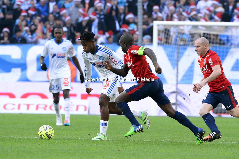 Michy BATSHUAYI - 21.12.2014 - Marseille / Lille - 19eme journee de Ligue 1 -<br />Photo : Gaston Petrelli / Icon Sport