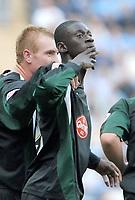 Photo: Ed Godden.<br />Coventry City v Plymouth Argyle. Coca Cola Championship. 30/09/2006. Cherno Samba celebrates his goal for Plymouth.
