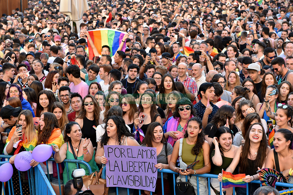 Opening Ceremony LGBTI Pride Festival Madrid 2018. 04 Jul 2018 Pictured: PRIDE OPENING CEREMONY. Photo credit: M. Angeles Salvador/MEGA TheMegaAgency.com +1 888 505 6342