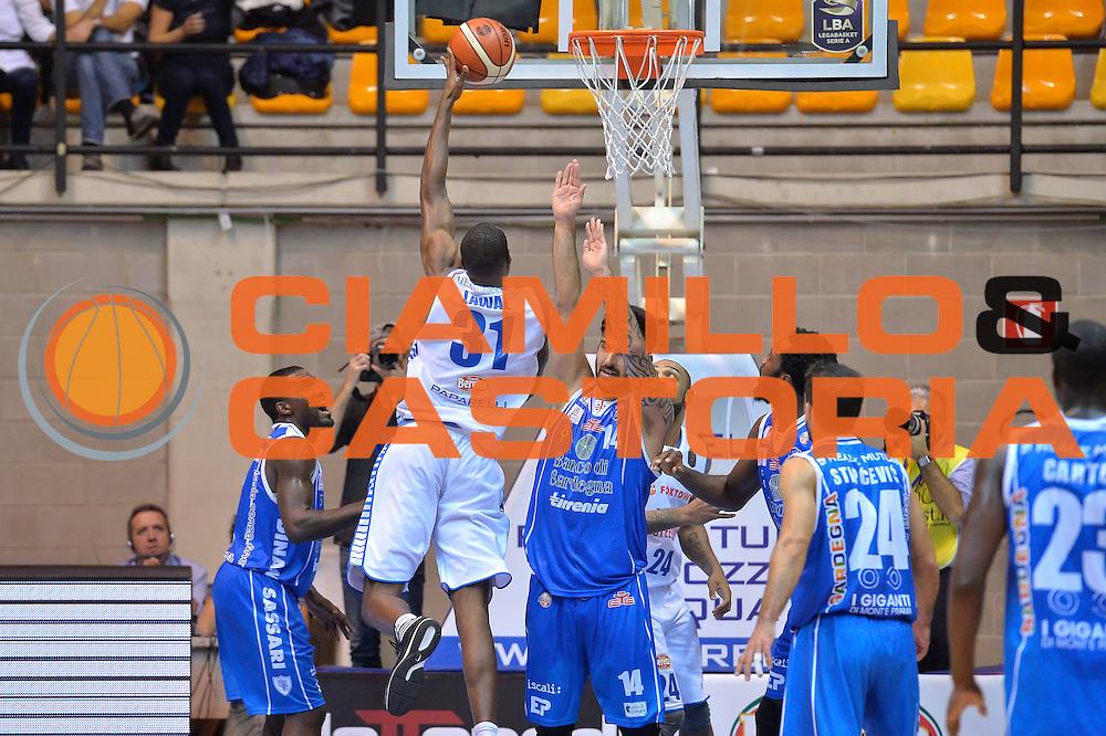 Gani Lawal<br /> Red October Cantu' vs Banco di Sardegna Sassari<br /> Basket Serie A 2016/2017<br /> Milano 23/10/2016<br /> Foto Ciamillo-Castoria