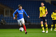 Ryan Williams (7) of Portsmouth on the attack during the Leasing.com EFL Trophy match between Oxford United and Portsmouth at the Kassam Stadium, Oxford, England on 8 October 2019.