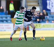 26th December 2017, Dens Park, Dundee, Scotland; Scottish Premier League football, Dundee versus Celtic; Dundee's Cammy Kerr and Celtic's Michael Johnston