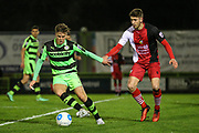 Forest Green Rovers Charlie Cooper(20) runs forward during the Vanarama National League match between Forest Green Rovers and Solihull Moors at the New Lawn, Forest Green, United Kingdom on 21 March 2017. Photo by Shane Healey.