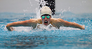 Shaun Burnett of the Harlequins team swims in the 16+ Men's 200m Butterfly race during the Senior Zonal Championship at the Wellington Regional Aquatic Centre in Kilbirnie in Wellington on Friday the 4th of October 2013. Photo by Marty Melville/www.photosport.co.nz