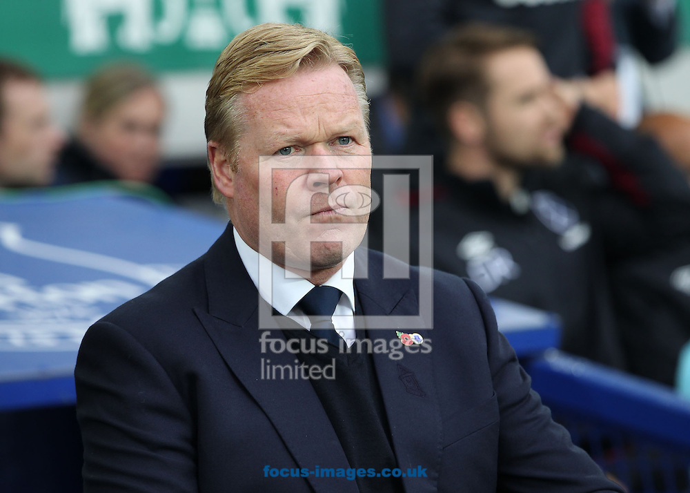 Everton manager Ronald Koeman on the touchline prior to the Premier League match against West Ham United at Goodison Park, Liverpool.<br /> Picture by Michael Sedgwick/Focus Images Ltd +44 7900 363072<br /> 30/10/2016