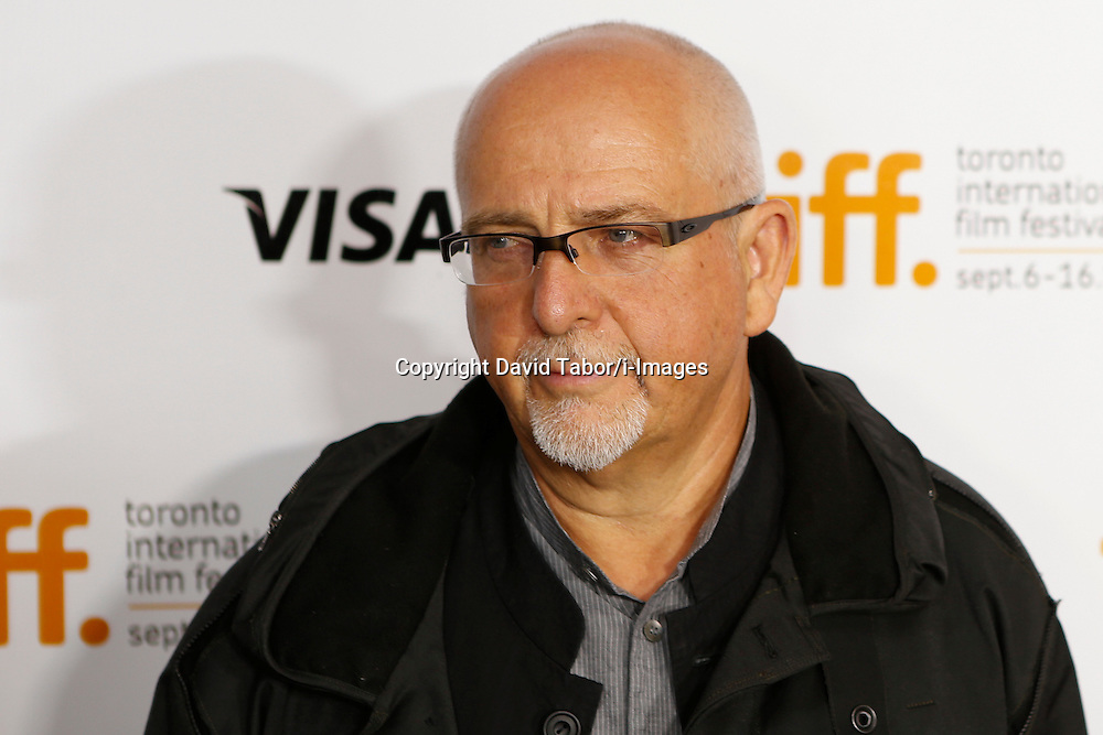 Recording artist PETER GABRIEL at 'The Reluctant Fundamentalist' Premiere during the 2012 Toronto International Film Festival at The Roy Thomson Hall, Saturday September 8th, 2012. Photo by David Tabor/i-Images.