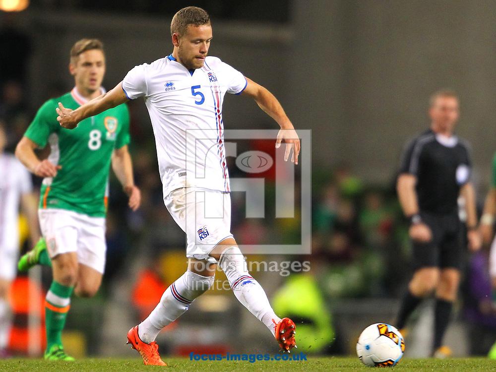 Sverrir Ingi Ingason of Iceland during the International Friendly match at the Aviva Stadium, Dublin<br /> Picture by Yannis Halas/Focus Images Ltd +353 8725 82019<br /> 28/03/2017