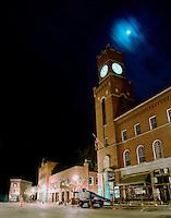 Late night downtown Bellows Falls, VT