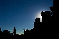 Silhouette of Mono Lake Tuffa's at Dawn. Image taken with a Nikon D3s camera and 50 mm f/1.4 lens (ISO 200, 50 mm, f/16, 1/1250 sec).