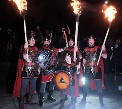 EDINBURGH'S HOGMANAY TORCHLIGHT PROCESSION, Friday 30th December 2016<br /> <br /> Vikings prepare for the torchlight procession to Calton Hill, Edinburgh<br /> <br /> (c) Alex Todd | Edinburgh Elite media