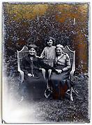 three generation female family group portrait