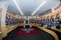 KELOWNA, CANADA - SEPTEMBER 24: The Kelowna Rockets dressing room on September 24, 2016 at Prospera Place in Kelowna, British Columbia, Canada.  (Photo by Marissa Baecker/Shoot the Breeze)  *** Local Caption ***