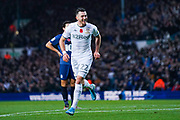 Leeds United midfielder Jack Harrison (22) scores a goal and celebrates to make the score 2-0 during the EFL Sky Bet Championship match between Leeds United and Blackburn Rovers at Elland Road, Leeds, England on 9 November 2019.