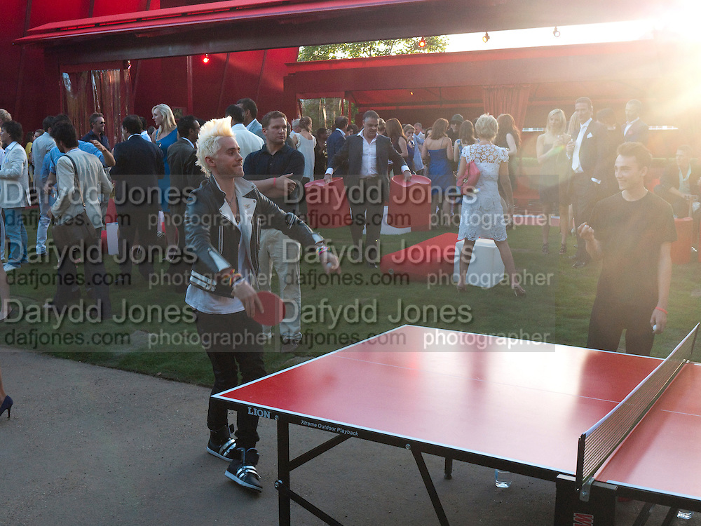 JARED LETTO, The Summer Party. Serpentine Gallery. 8 July 2010. -DO NOT ARCHIVE-© Copyright Photograph by Dafydd Jones. 248 Clapham Rd. London SW9 0PZ. Tel 0207 820 0771. www.dafjones.com.