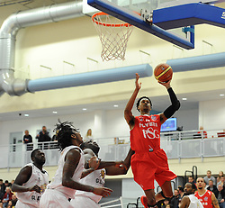 Bristol Flyers' Bree Perine attempts a shot - Photo mandatory by-line: Dougie Allward/JMP - Mobile: 07966 386802 - 28/03/2015 - SPORT - Basketball - Bristol - SGS Wise Campus - Bristol Flyers v London Lions - British Basketball League