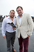 03/08/2012 .Brett Wilkinson and Michael Swift from  Connacht Rugby who were on a team night out at the Galway Races. Photo:Andrew Downes