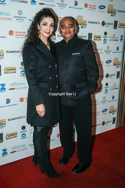 Actor Bhasker Patel attands the 2017 Asian Business Awards,London,UK. by See Li