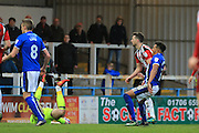 GOAL Nathaniel Mendez-Laing equalises for Rochdale 3-3 during the EFL Sky Bet League 1 match between Rochdale and Sheffield Utd at Spotland, Rochdale, England on 4 March 2017. Photo by Daniel Youngs.