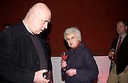 Robert Fenton and Jennifer Montagu. National Art Collections Fund Centenary<br />Millais House. 9 January 2003. © Copyright Photograph by Dafydd Jones 66 Stockwell Park Rd. London SW9 0DA Tel 020 7733 0108 www.dafjones.com
