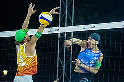 Tadej Bozenk of Slovenia and Nejc Zemljak of Slovenia at Beach Volleyball Challenge Ljubljana 2019, on August 4, 2019 in Kongresni trg, Ljubljana, Slovenia. Photo by Grega Valancic / Sportida