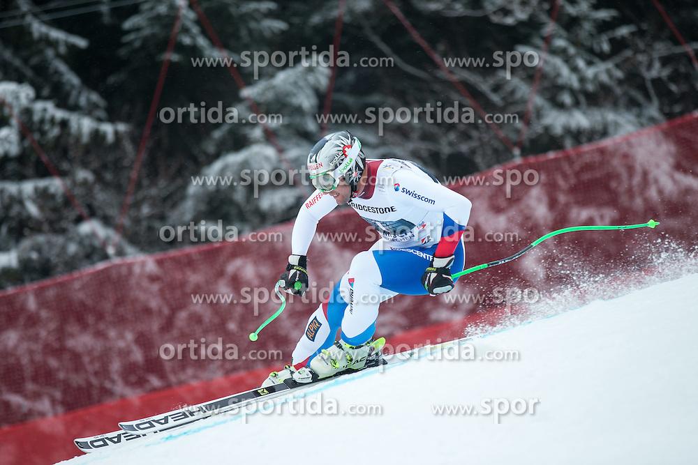 28.02.2015, Kandahar, Garmisch Partenkirchen, GER, FIS Weltcup Ski Alpin, Abfahrt, Herren, im Bild Silvan Zurbriggen (SUI) // Silvan Zurbriggen of Switzerland in action during the men's Downhill of the FIS Ski Alpine World Cup at the Kandahar course, Garmisch Partenkirchen, Germany on 2015/02/28. EXPA Pictures © 2015, PhotoCredit: EXPA/ Johann Groder