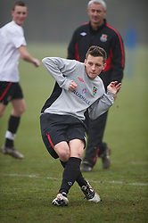 CARDIFF, WALES - Thursday, March 15, 2012: Wales U16's Ellis Bellamy (Cardiff City FC & St Johns College) during a training session at the Glamorgan Sports Park. (Pic by David Rawcliffe/Propaganda)