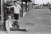 Teenagers on The Broadway, Greenford, London, UK, 1982