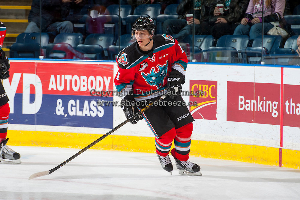KELOWNA, CANADA - DECEMBER 3: Jordan Borstmayer #11 of the Kelowna Rockets warms up against the Brandon Wheat Kings on December 3, 2016 at Prospera Place in Kelowna, British Columbia, Canada.  (Photo by Marissa Baecker/Shoot the Breeze)  *** Local Caption ***