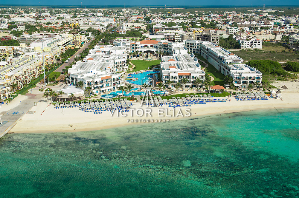 Aerial view of hotel Royal. Playa del Carmen, Quintana Roo. Mexico.