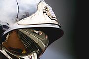 May 23-27, 2018: Monaco Grand Prix. Sergey Sirotkin, Williams Martini Racing, FW41 reflected in a Monaco marshals helmet