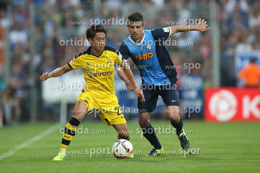 17.07.2015, RewiePower Stadion, Bochum, GER, Testspiel, VfL Bochum vs Borussia Dortmund, im Bild Shinji Kagawa (Borussia Dortmund #23) im Zweikampf gegen Anthony Losilla (VfL Bochum #8) // during the Interntational Friendly Football Match between VfL Bochum and Borussia Dortmund at the RewiePower Stadion in Bochum, Germany on 2015/07/17. EXPA Pictures &copy; 2015, PhotoCredit: EXPA/ Eibner-Pressefoto/ Schueler<br /> <br /> *****ATTENTION - OUT of GER*****