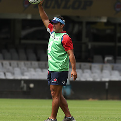 Daryl Gibson ( Head Coach) of the NSW Waratahs during the NSW Waratahs Cap Run at  Growthpoint Kings Park Durban , South Africa. March 9th 2017(Photo by Steve Haag)<br /> <br /> images for social media must have consent from Steve Haag