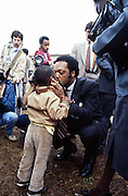 Reverend Jesse Jackson campaigns across the south in his 1984 bid to be the first African American president of the United States.