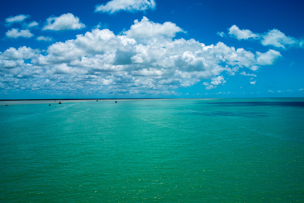 A sweeping view the sea from Broome, Australia