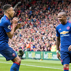 Jesse Lingard of Manchester United celebrates his goal and United second with Ashley Young of Manchester United. Middlesborough v Manchester United, Barclays English Premier League, 19th March 2017. (c) Paul Cram | SportPix