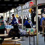 Police bring rations of water and food to the corner of Surf Ave. and 31st in Coney Island Become a volunteer with &quot;Occupy Sandy&quot; HERE:<br />