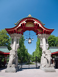Ornate entrance gate to Berlin Zoo Germany