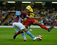 Photo: Richard Lane.<br />Watford v Aston Villa. The Barclays Premiership. 16/09/2006. <br />Villa's Gabriel Agbonlahor crosses.