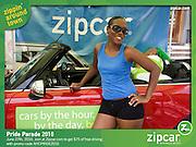 Zipcar booth -  Pride Parade June 27, 2010 NYC