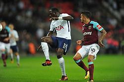 MOUSSA SISSOKO  TOTTENHAM HOTSPUR,  Tottenham Hotspur  v West Ham United, EFL  Carabao Cup Fourth Round, Wembley Stadium Wednesday 25th October 2017, Score 2-3 <br /> Photo:Mike Capps
