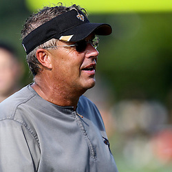 August 9, 2011; Metairie, LA, USA; New Orleans Saints defensive coordinator Gregg Williams during training camp practice at the New Orleans Saints practice facility. Mandatory Credit: Derick E. Hingle