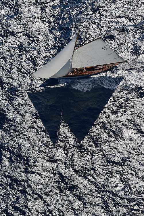 France Saint - Tropez October 2013, Classic yachts racing at the Voiles de Saint - Tropez<br /> <br /> C,49,TIGRIS,&quot;18,6&quot;,COTRE AURIQUE/1899,ALFRED MYLNE