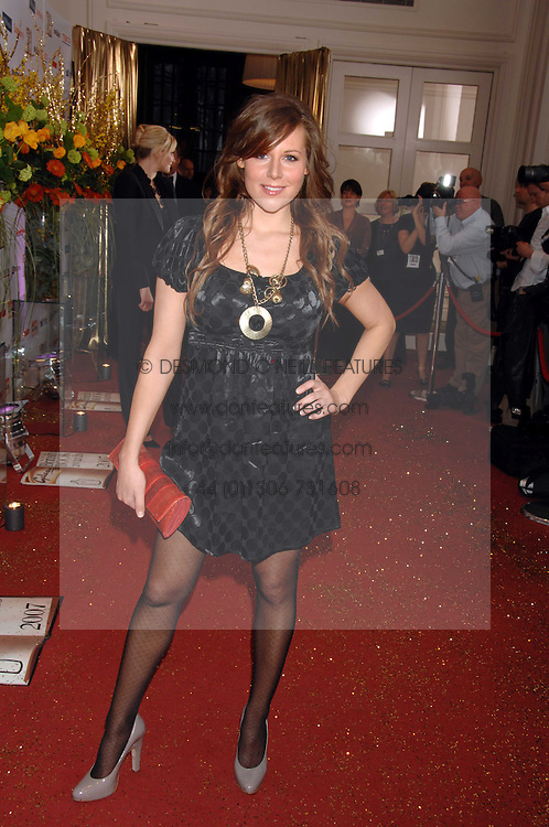 TV presenter ABI TITMUS at the Galaxy British Book Awards 2007 - The Nibbies held at the Grosvenor house Hotel, Park Lane, London on 28th March 2007.<br /><br />NON EXCLUSIVE - WORLD RIGHTS