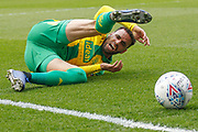 Millwall midfielder Ben Marshall (44) (not in picture) fouls West Bromwich Albion forward Hal Robson-Kanu (4) during the EFL Sky Bet Championship match between Millwall and West Bromwich Albion at The Den, London, England on 6 April 2019.