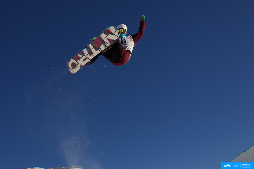 Patrick Burgener, Switzerland, in action during the Men's Half Pipe Finals at the Burton New Zealand Open 2011 held at Cardrona Alpine Resort, Wanaka, New Zealand, 13th August 2011. Photo Tim Clayton