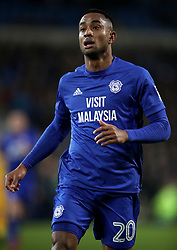 "Cardiff City's Loic Damour during the Sky Bet Championship match at The Den, London. PRESS ASSOCIATION Photo. Picture date: Friday December 29, 2017. See PA story SOCCER Cardiff. Photo credit should read: Nick Potts/PA Wire. RESTRICTIONS: EDITORIAL USE ONLY No use with unauthorised audio, video, data, fixture lists, club/league logos or ""live"" services. Online in-match use limited to 75 images, no video emulation. No use in betting, games or single club/league/player publications."
