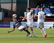 Dundee's Greg Stewart tumbles as Inverness Caledonian Thistle&rsquo;s Ryan Christie challenges - Dundee v Inverness Caledonian Thistle - SPFL Premiership at Dens Park <br /> <br />  - &copy; David Young - www.davidyoungphoto.co.uk - email: davidyoungphoto@gmail.com