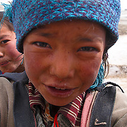 Up close and personal with Tsering in Tingri, Tibet.
